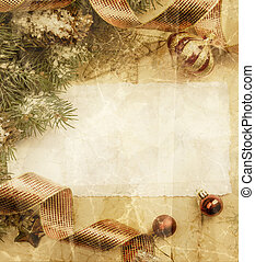 vindima, arte, cartão natal, saudação
