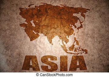 vindima, asiático, mapa