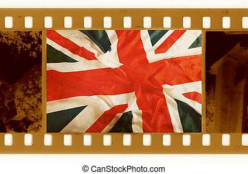 vindima, bandeira, antigas,  35mm, EUA