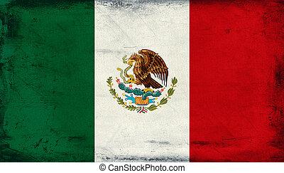 vindima, bandeira nacional, fundo, méxico