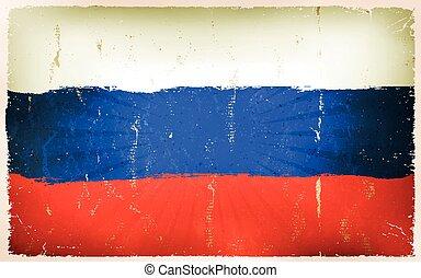 vindima, bandeira russa, cartaz, fundo