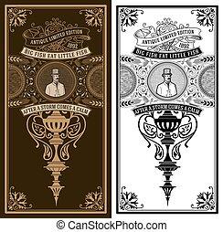 vindima, barroco, cavalheiro, card., ornamentos