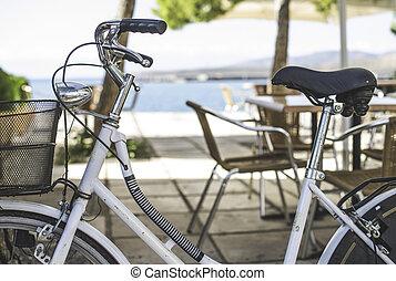 vindima, branca, bicycle.
