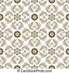 vindima, brown-white, seamless, padrão