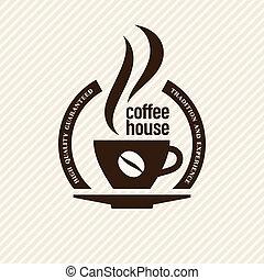 vindima, café, etiqueta