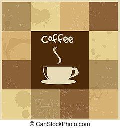 vindima, café, retro, fundo