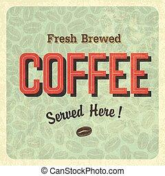 vindima, café, vetorial, poster.