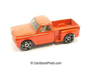 vindima, caminhão brinquedo, cima, pico