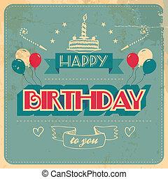 vindima, cartão aniversário
