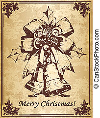 vindima, cartão natal, sinos