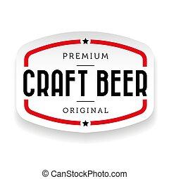 vindima, cerveja, arte, sinal