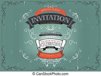 vindima, convite, fundo, cartaz