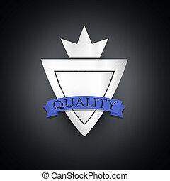 vindima, denominado, qualidade, prata, etiqueta