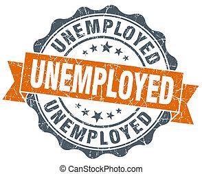 vindima, desempregado, isolado, selo, laranja, branca