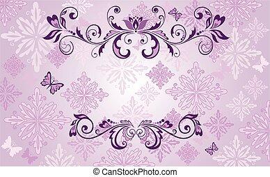 vindima, desenho, violeta