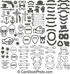 vindima, elementos, logotipo