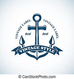 vindima, emblema, náutico
