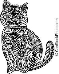 vindima, estilo, gato