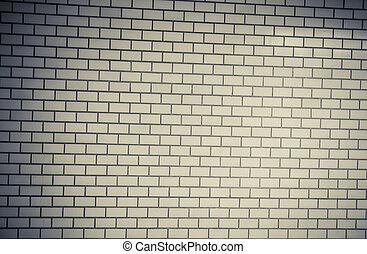 vindima, estilo, parede, padrão, sob, bloco, exposição