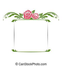 vindima, floral, quadro