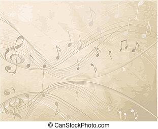 vindima, fundo, com, música, não