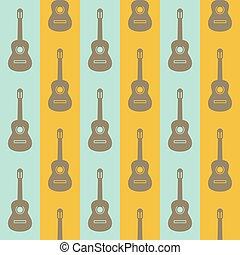 vindima, fundo, seamless, violões