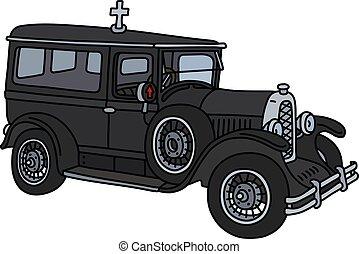 vindima, funeral, car