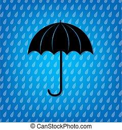 vindima, guarda-chuva, pretas