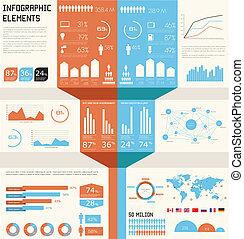 vindima, infographics, set.