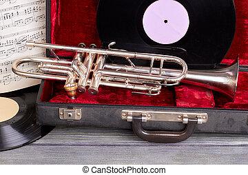 vindima, instruments., musical, fundo