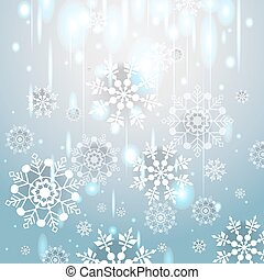 vindima, inverno, fundo, snowflakes