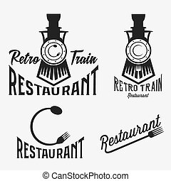 vindima, jogo, de, retro, trem, restaurante