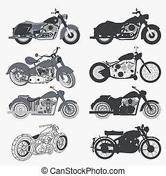 vindima, jogo, motocicleta