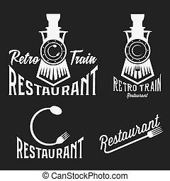 vindima, jogo trem, retro, restaurante