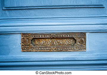 vindima, letterbox, francês