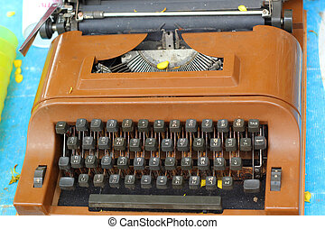 vindima, máquina escrever