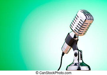 vindima, microfone, contra, fundo