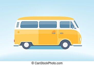 vindima, minibus, [converted], amarela