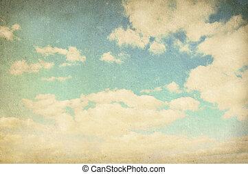 vindima, nublado, fundo
