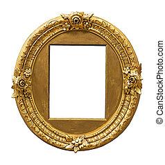 vindima, ouro, cor, armação quadro
