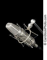 vindima, profissional, microfone