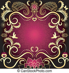 vindima, purple-gold, quadro, valentine
