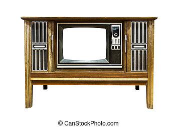 vindima, retro, televisão