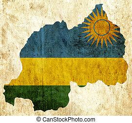 vindima, ruanda, papel, mapa