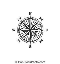 vindima, símbolo, compasso, sinal