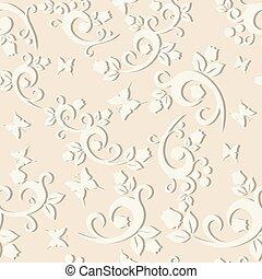 vindima, seamless, elegante, desenho, padrão experiência, floral, seu