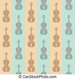 vindima, seamless, fundo, violinos