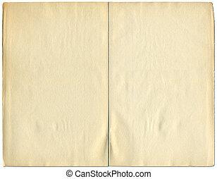 vindima, sobre, dois, isolado, 1932, livro, white., em branco, páginas