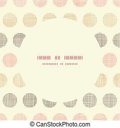 vindima, têxtil, pontos polka, frame oval, seamless, padrão, fundo