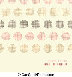 vindima, têxtil, pontos polka, horizontais, quadro, seamless, padrão, fundo